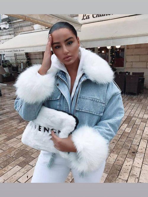 jeans jacket fur